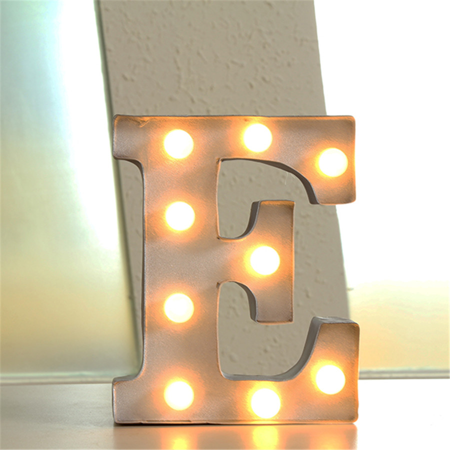 "Lighted Metal Initials 12"" Metal Letters Light Led Alphabet Marquee Sign Vintage Metal"