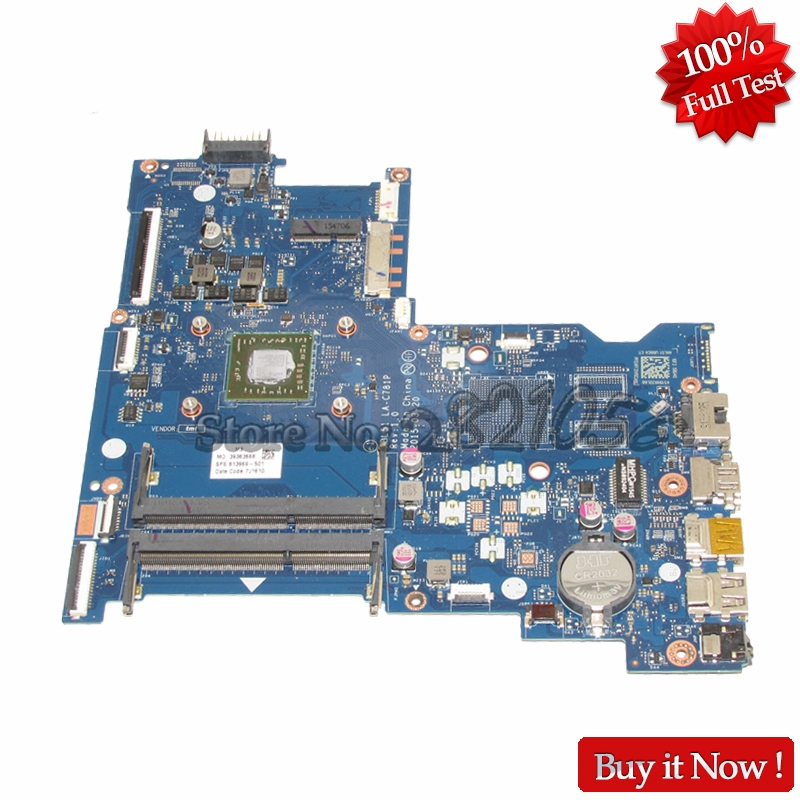 NOKOTION 813969-001 Laptop motherboard For HP Notebook 15-AF ABL51 LA-C781P 813969-501 Main Board DDR3 574680 001 1gb system board fit hp pavilion dv7 3089nr dv7 3000 series notebook pc motherboard 100% working