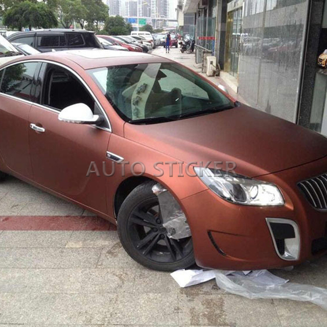 Coffee Chrome Matte Metallic Bronze Car Vinyl Wrap Film With Air