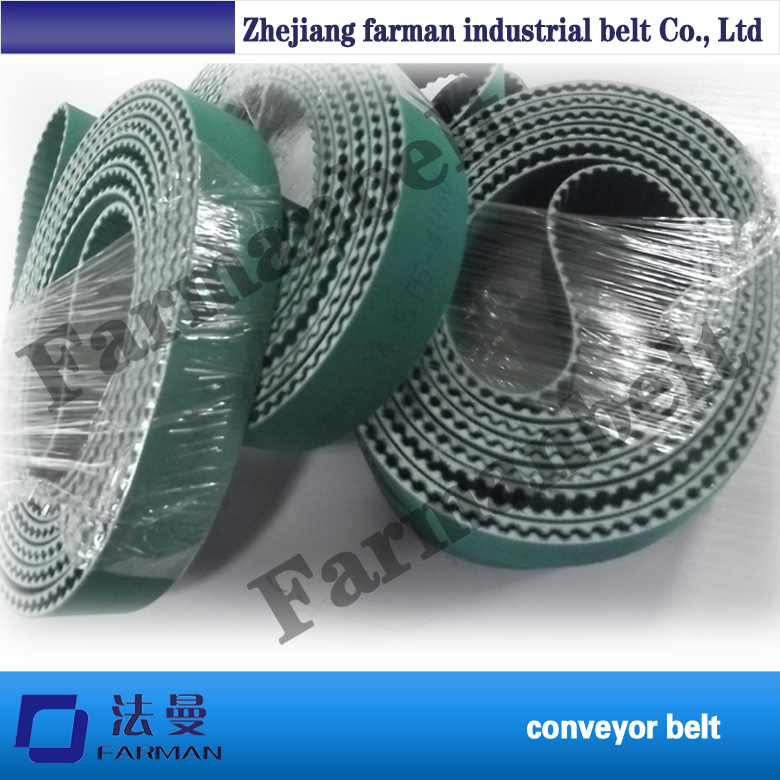 T5 PAZ +3T PU Industry timing belt /Tooth surfaces with colth PU Industry timing belt contrast pu wide belt