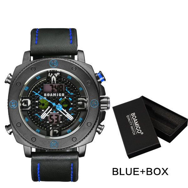 blue with box