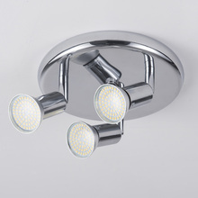 Светодиодный потолочный светильник, 3 вращающихся света, для гостиной, спальни, кухни, домашнего освещения