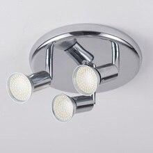 צמודי led תקרת זרקור 3 אורות rotatable מודרני קישוט מנורות לסלון חדר שינה מטבח בית תאורה