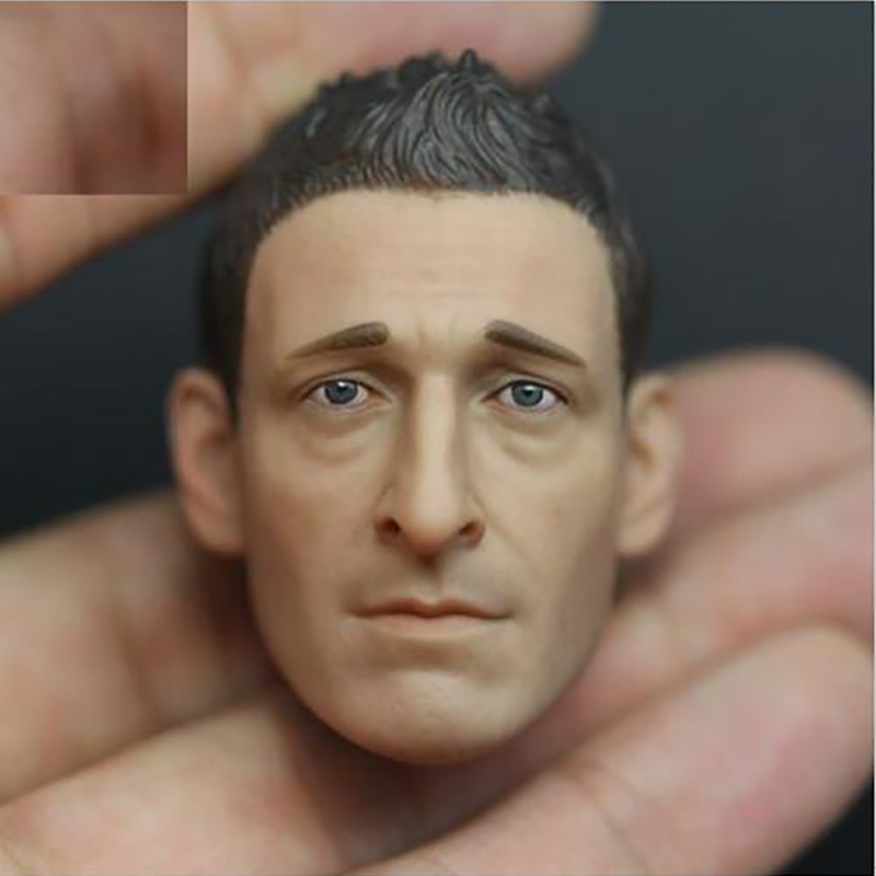 A-09 Soldiers accessories Custom Adrien Brody 1/6 Head Sculpt for 12 Inch Phicen Headplay Hot Toys Body Royce Predators Figure hot figures doll accessories pirp toys 1 6 batman police commissioner gordon inspector dresscode clothes set for 12 figure body