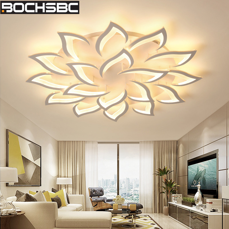 BOCHSBC Creative Design Leaves Shape Ceiling Lamp Modern LED Lamp Lighting Fixtures for Living Room Bedroom Dining Room Lights