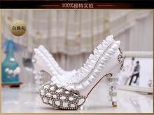 e5245891648376 pearl bridal shoes high-heeled platform crystal soles diamond comfortable  formal dress shoes wedding(