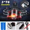 12000 Lumen Headlight LED CREE XML 3 T6 Zoom Headlamp X900 Flashlight Torch Head Lights Lamp