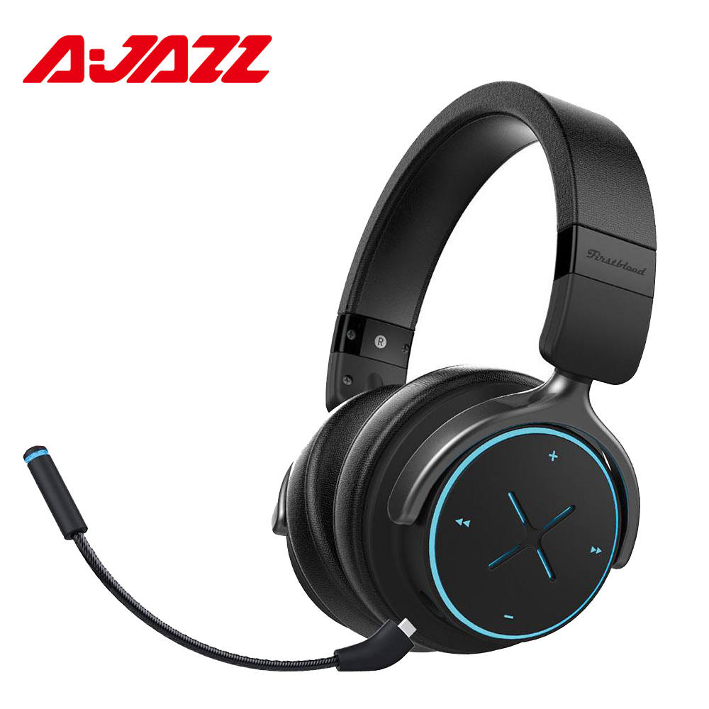 Ajazz AE3 40mm Drivers Bluetooth 4 1 Wireless Gaming Headset With RGB Illuminate Headphone With Microphone