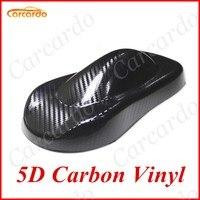 DIY 50x200cm Glossy 5D Carbon Car Sticker 19 69 X78 74 5D Carbon Fiber Vinyl Films