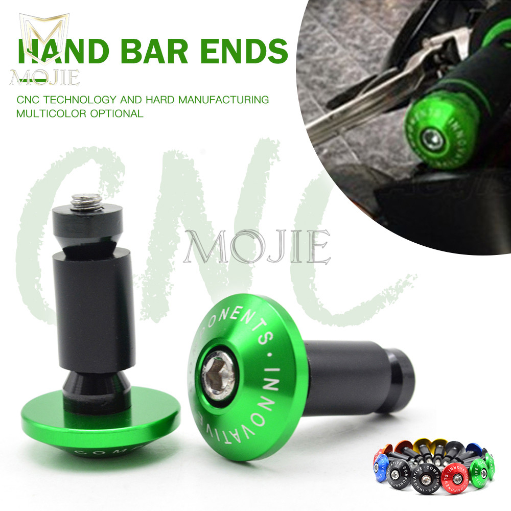 22mm Aluminum Motorcycle Handle Hand Bar Handlebar Grips Ends For Kawasaki Ninja 650R ER6F ER6N F Z750 Z800 Z1000 ZX9R ZX10R image