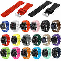 22mm Amazfit Silicone Watch Band for Samsung Gear S3 Classic Frontier Rubber Strap Wrist Bracelet for Galaxy Watch 46mm Band