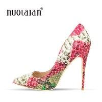 Брендовая обувь, женская обувь на высоком каблуке, женские туфли-лодочки, туфли на шпильке для женщин, пикантные туфли на высоком каблуке 12 с...