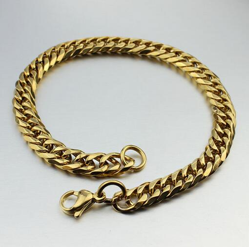 cool men aggressiveness plated gold chain custom gold chain bracelet quotes jewelry