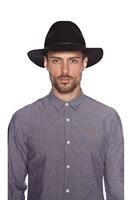 2015 جديد خمر النساء السيدات جلد البقر الحقيقي حزام مرن واسعة بريم قاء زجاجي قبعة فيدورا الصوف cap7 اللون خالية مجانا