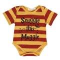 Aconchegar Este Trouxa de Harry Potter Inspirado Romper Do Bebê 2017 Criança Crianças Macacão de Bebê Recém-nascido Roupas de Verão Listrado