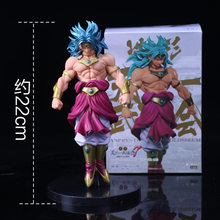 Dragon ball z esculpir grande modelagem budokai tenkaichi 7 broly figura collectible mascote brinquedos 100% original(China)