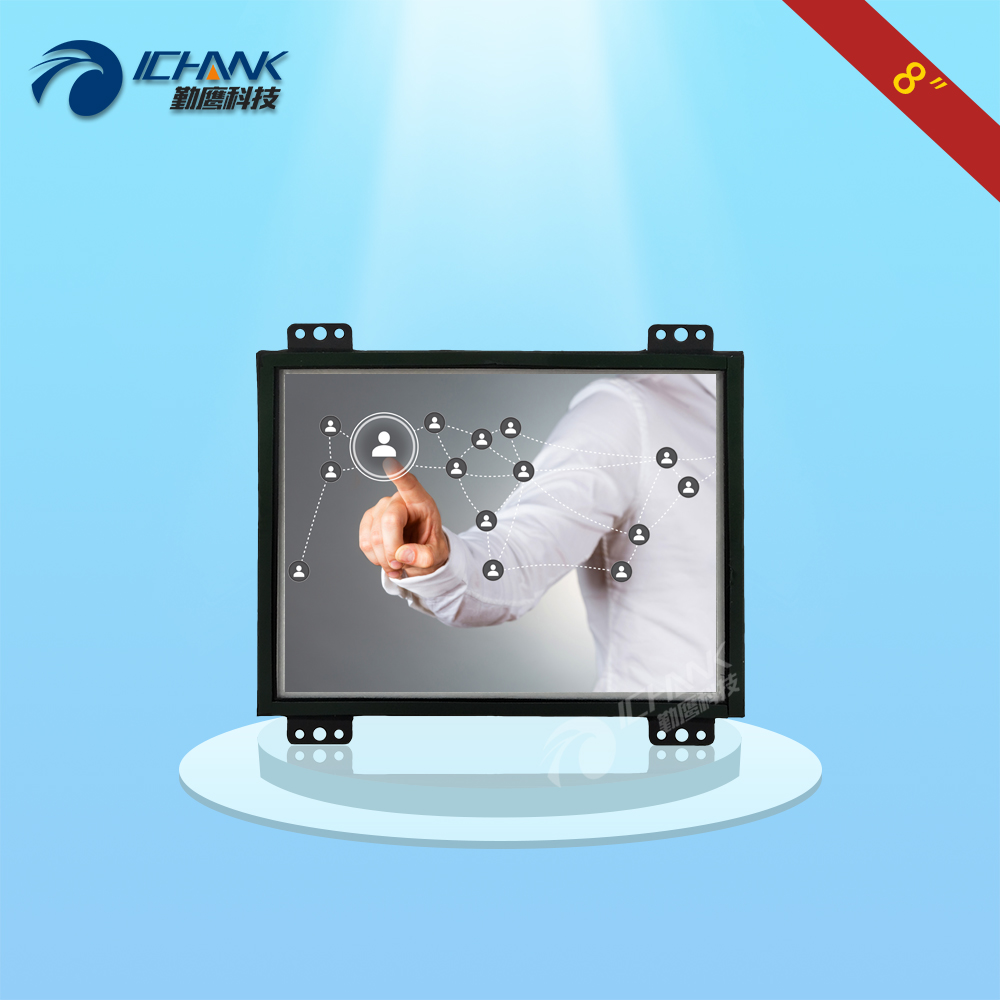 ZK080TC UD2 8 inch 1024x768 USB HDMI Metal Shell Open Frame Embedded Touch Monitor Industrial Medical
