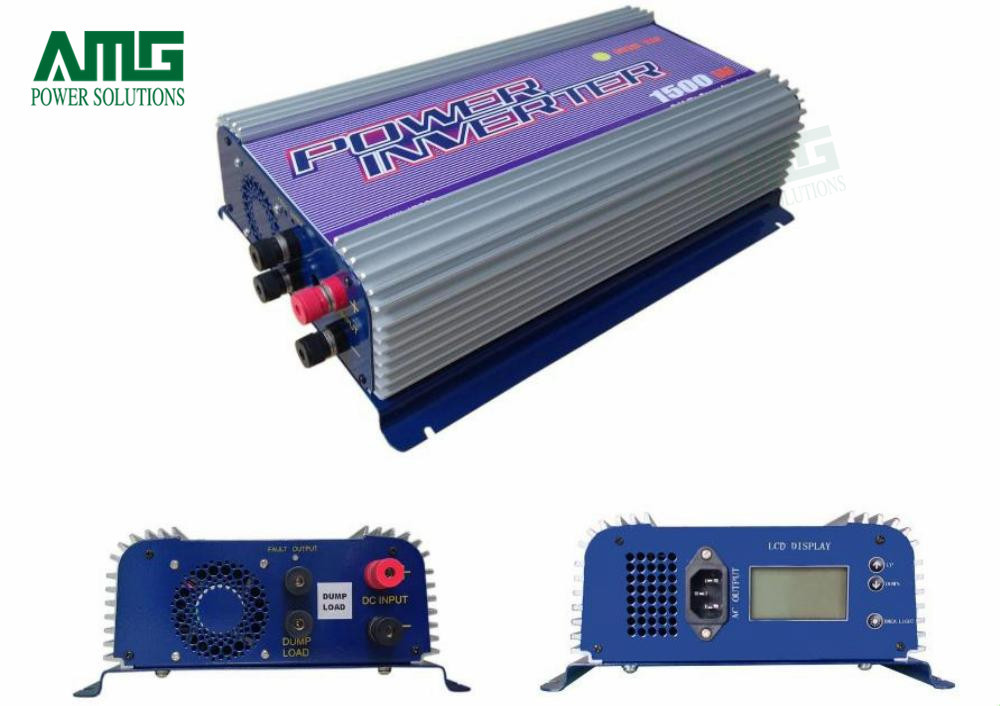 1500W MPPT On Grid Tie Wind Turbine Generator Inverter LCD Display Indoor Residential Home Use 5000w single phrase on grid solar inverter with 1 mppt transformerless waterproof ip65 lcd display multi language