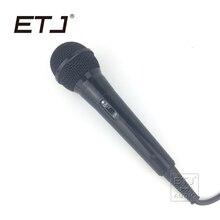 ETJ Marca Frete Grátis Wired Karaoke Microfone Com Fio Para O Palco KTV 2.5 Metro K-102