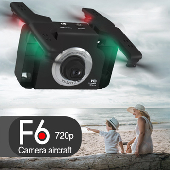F6 wide-angle camera 720P HD aerial Quadcopter gesture control RC drone helicopter headless mode unique aircraft toy