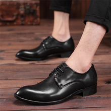 men wedding shoes microfiber leather formal business pointed toe for man dress shoes men's oxford flats shoes