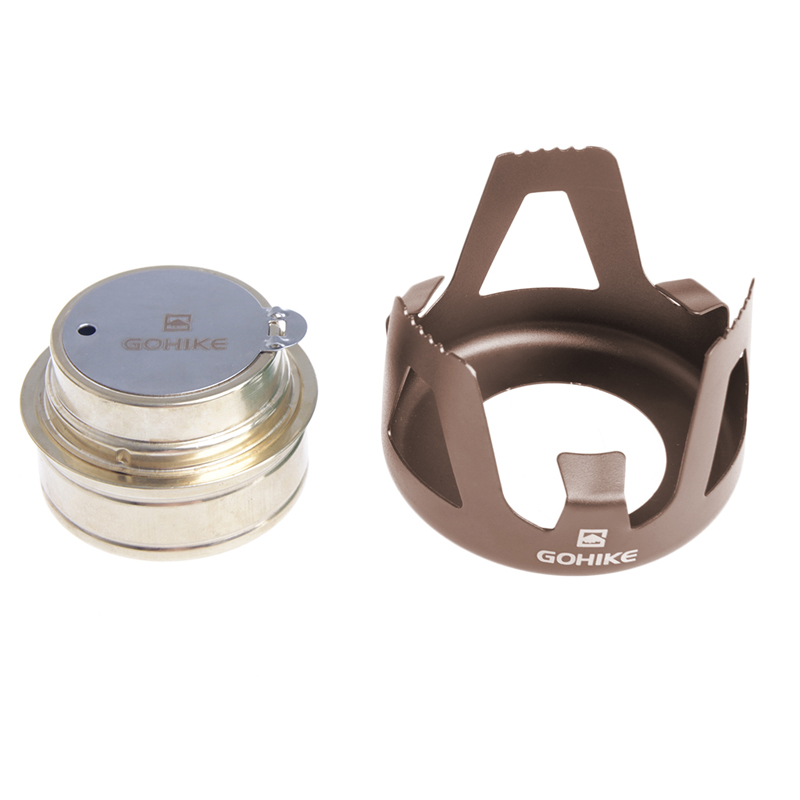 OOTDTY Outdoor Cooking Picnic Alcohol Stove Camping Furnace Portable Stainless Steel stoves Brand New Drop Shipping