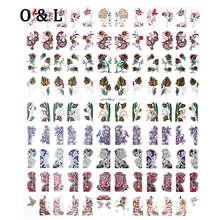 Colorful 3d Nail Art Stickers 108pcs/sheet Adesivos Nail Tips Decals DIY Design Manicure Nail Decoration Tools