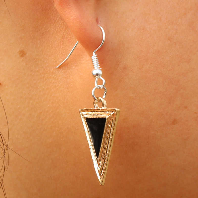 ES972 Drop Earrings For Women Triangle oorbellen Dangle Fashion Jewelry pendientes mujer Brincos Bijoux Geometric One Direction