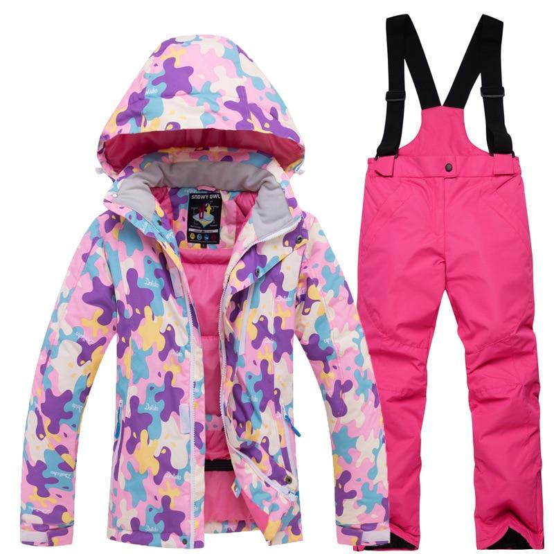 2018 Children Kids Ski Snow Suit Winter Clothing -7211