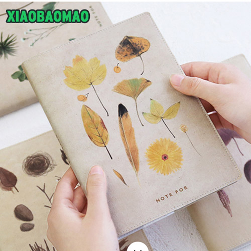 watercolor fashion cat plant journal A6 notebook Half year plan+monthly plan+daily plan+squared sheets+dots+lined sheets gift