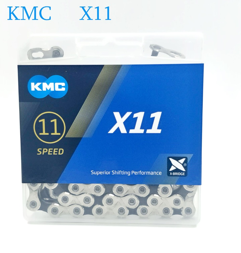 Flash Deal 2019 New KMC Bicycle Chain X11 118L 11 Speed Bicycle Chain With Original Box and Magic Button for Mountain / Road Bicycle 0