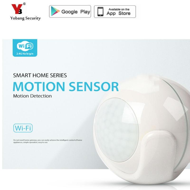 цена YobangSecurity Smart WiFi PIR Motion Sensor WiFi Sensor for Amazon Alexa Assistant Plastic Cover