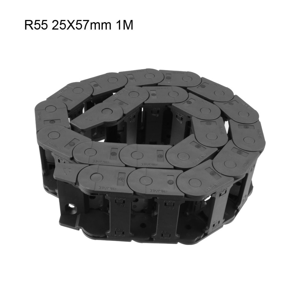 UXCELL R55 Drag Chain Cable Carrier Open Type 25x57mm 25x25mm 25x38mm with End Connector 1m for 3D Printer CNC Router MachineUXCELL R55 Drag Chain Cable Carrier Open Type 25x57mm 25x25mm 25x38mm with End Connector 1m for 3D Printer CNC Router Machine