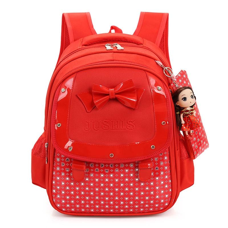 Новый лук детские школьные сумки Высокое качество Мультфильм дети рюкзак высокое Ёмкость детский сад прекрасный ребенок подарок для девоч...