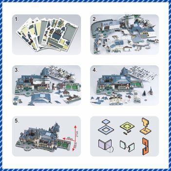 3D Puzzle model de hârtie joc Diy Castelul Peles România - Jocuri și puzzle-uri - Fotografie 4