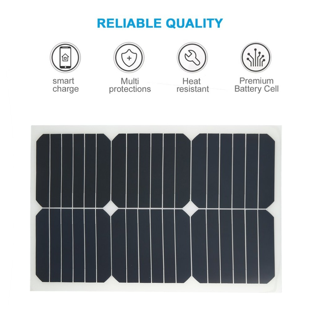 18v 20w Car Battery Solar Charger Portable Panel With Smart Cigarette Lighter Charging Clip Plug In Cells From Consumer Electronics On