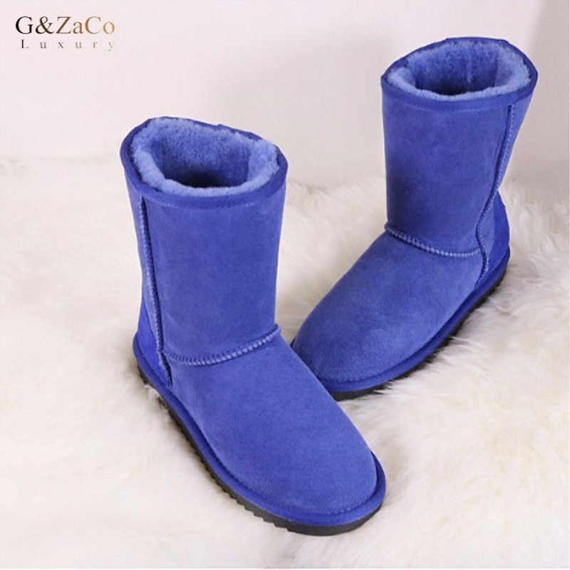 <b>G&Zaco Luxury Sheepskin</b> Snow Boots Women Non slip Rubber ...
