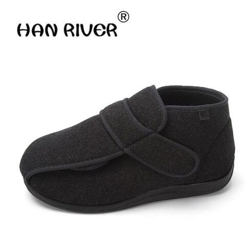 alta qualidade pe largo inchado sapatos masculinos de meia idade pes largos e pes inchados