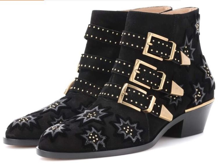 Drop Shipping Fashion Women Black Buckle Zip Side Round Toe Star Low Heels Comfortable Rivets Plus Size Short Ankle Boots LadyDrop Shipping Fashion Women Black Buckle Zip Side Round Toe Star Low Heels Comfortable Rivets Plus Size Short Ankle Boots Lady