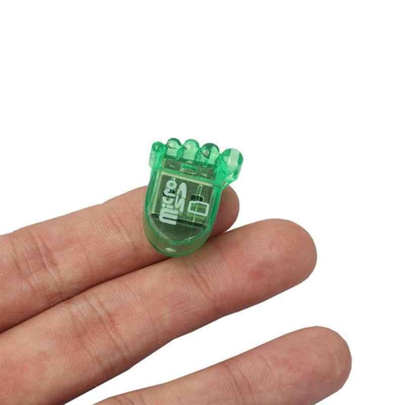 Lector de tarjetas de memoria de alta calidad Super Mini USB 2,0 Micro SD TF T-Flash adaptador de lector de tarjeta de memoria Skimmer l0809 #3