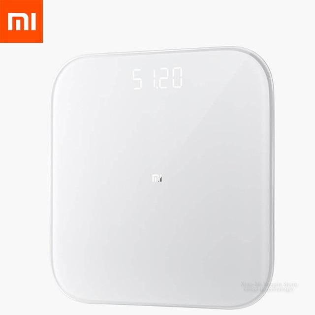Mais novo original xiaomi inteligente balança de peso 2 saúde balança de peso bluetooth 5.0 digital suporte android 4.3 ios 9 mifit app
