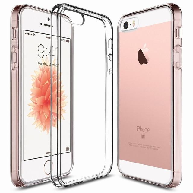 Portefeuille For iPhone SE Case Clear PC Back TPU Bumper Technology for Apple  iPhone 5S 5 iPhone5 Cases Bumper Cover Accessories 695a983d81fb8