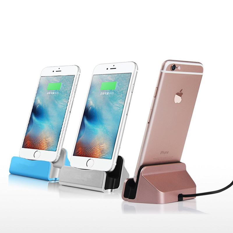 New Desktop Charger Dock Station USB Sync Adapter Mobile Smart Phone Charging...