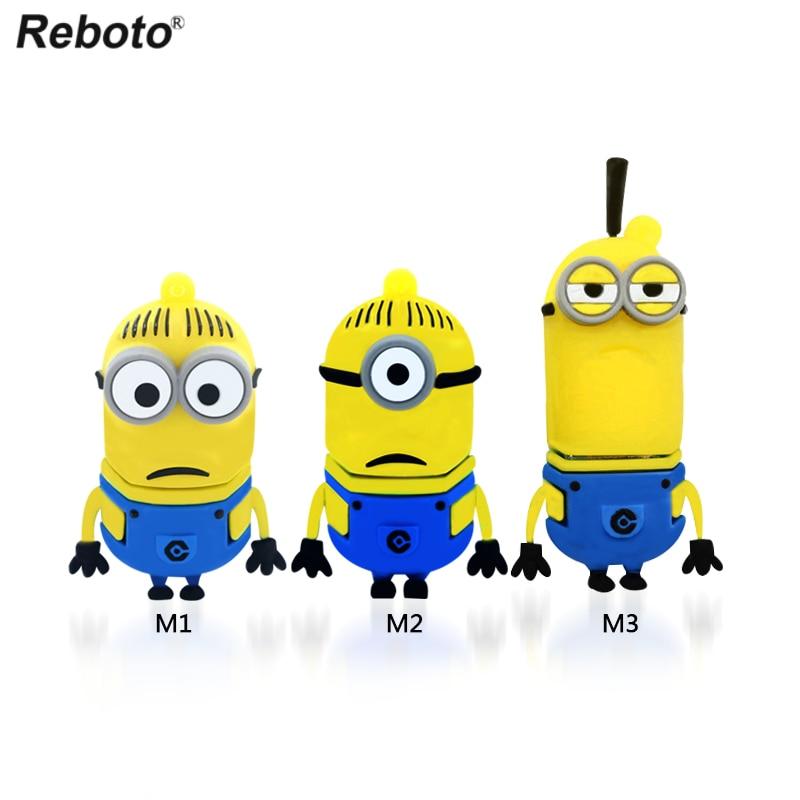 3 kind of Minions usb disk 64GB 32GB 16GB cute cartoon Pen Drive 4GB 8GB USB