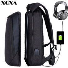 XQXA 17 inch Laptop Backpack USB Charging Backpack Men Business Travel Backpack Exchangeable College School Bag Male Mochila(China)