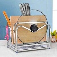 304 stainless steel knife holder kitchen rack multi purpose storage supplies tool holder knife block cutting board LU51021