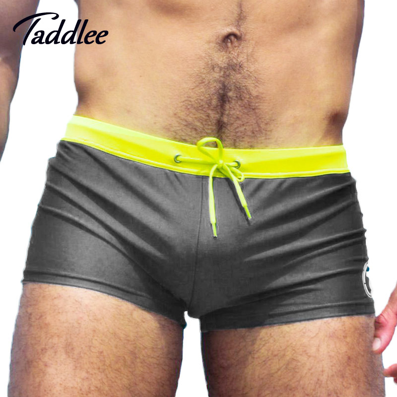 Taddlee Brand Sexy Men Swimwear Swimsuits Low Waist Designed New Swim Boxer Trunks Surfing Board Shorts Brazilian Cut Swim Wear цена