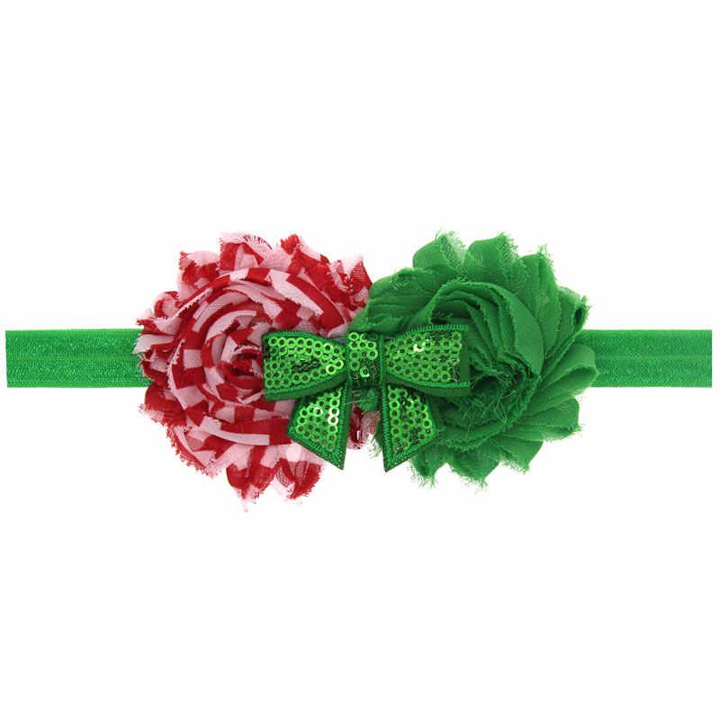 Naturalwell เด็กทารกคริสต์มาสดอกไม้อุปกรณ์เสริม Hairband ทารกวันหยุด Headband เจ้าหญิง Elastic Hairbands 1pc HB466