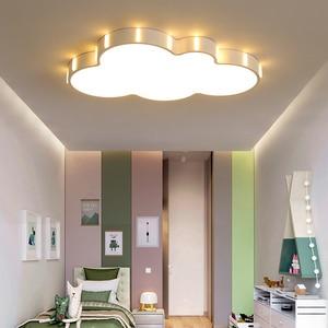 Image 5 - クラウド現代シャンデリア子供のための子供の部屋の寝室の plafon 110 V 220 V ホット天井 led シャンデリア lampadario led 器具