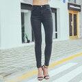 2016 Projeto o Mais Novo Treino Causal Elasticidade Skinny Jeans Rasgado Mulher Empurrar Para Cima Denim Calça Legging Plus Size calça jeans feminina